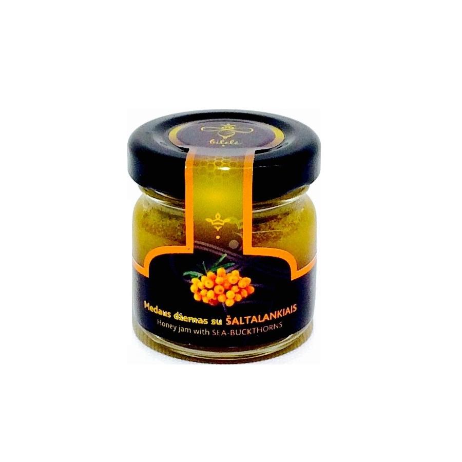 HONEY JAM WITH SEA-BUCKTHORNS - 40gr GLASS JAR